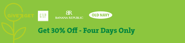 Get 30% Off – Four Days Only